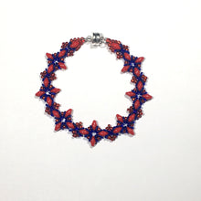 "Load image into Gallery viewer, Bead Kit to Make ""Oh, My Stars! Bracelet"" Red / Blue with Free E-Tutorial starting at $9.99"