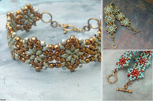 Northern Star Bracelet Free Pattern/Tutorial/Instructions