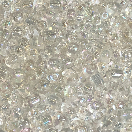 6/0, 8/0 and 11/0 Transparent Crystal AB Mix Seed Beads, 5 gm