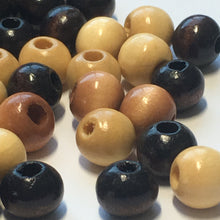Load image into Gallery viewer, Wooden Bead Mix (Light, Medium and Dark), 8 mm - 140 Beads