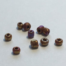 Load image into Gallery viewer, 11/0 Brown Opaque Rainbow Seed Beads 5 gm