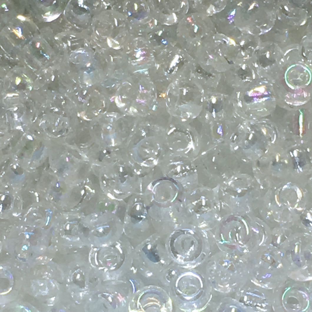 11/0 Crystal AB Seed Beads 5 gm