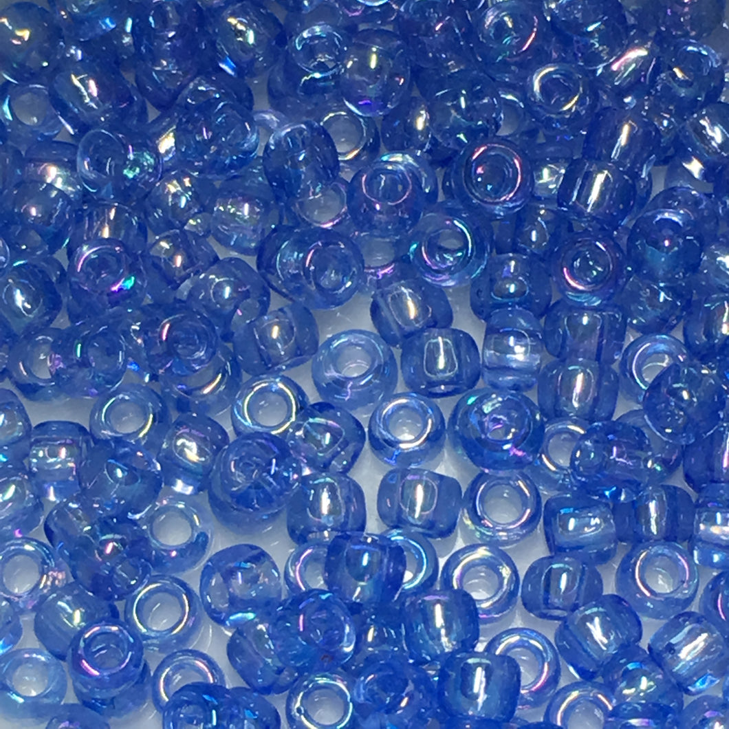 TOHO TR-8-168 Transparent Luster Light Sapphire AB Seed Beads, 5 gm