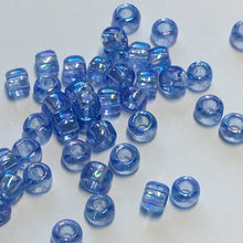 Load image into Gallery viewer, TOHO TR-8-168 Transparent Luster Light Sapphire AB Seed Beads, 5 gm