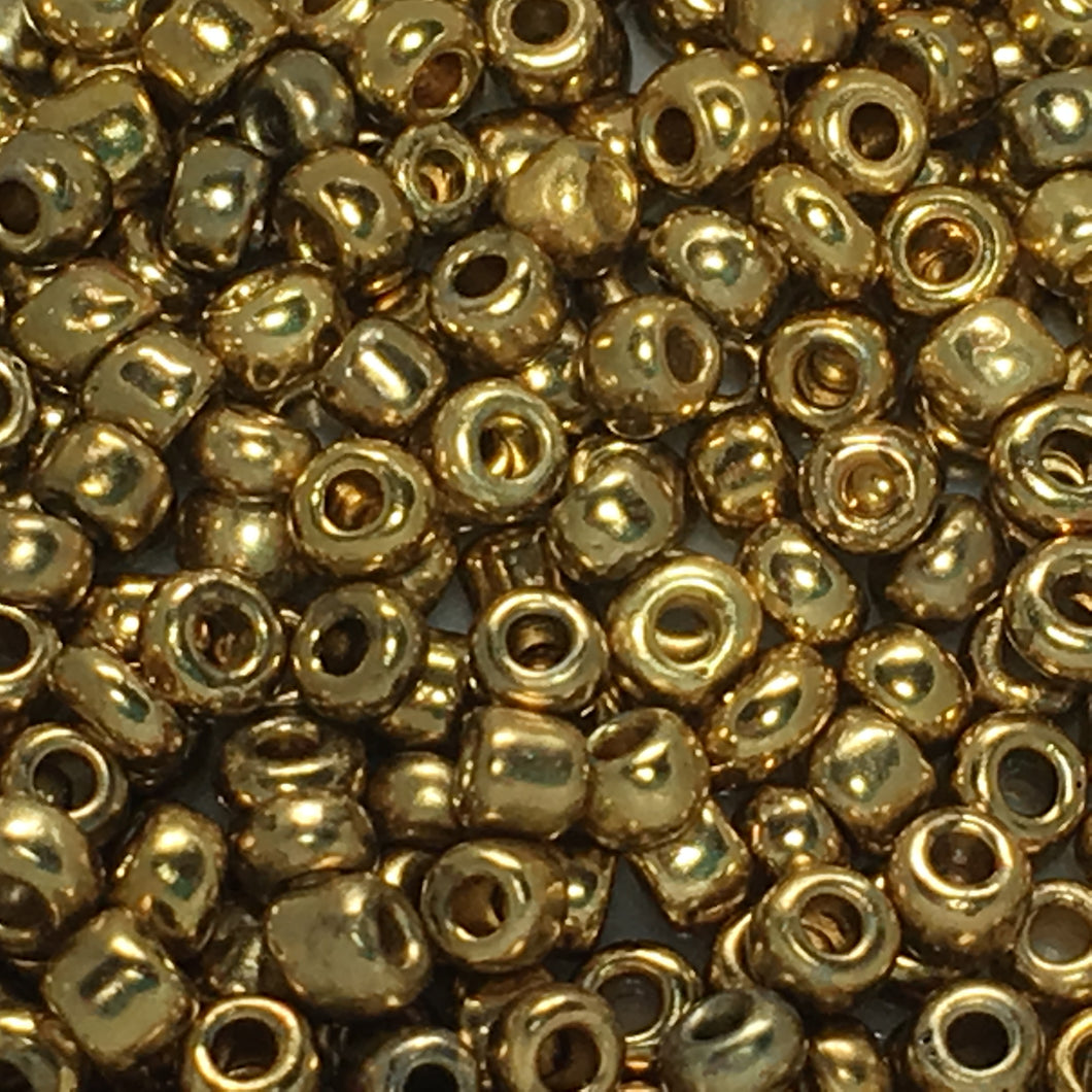 11/0 - 8/0 MIX Gold Seed Beads, 5 gm