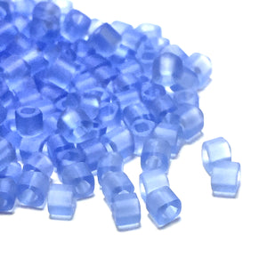 TOHO T2C-13F  2 mm Matte Light Sapphire Cube / Square Glass Beads, 5 gm