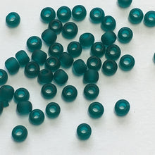 Load image into Gallery viewer, TOHO TR-11-7BDF  11/0 Transparent Matte Blue Zircon Seed Beads, 5 gm