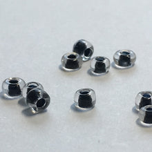 Load image into Gallery viewer, 11/0 Color Lined Black Transparent Crystal Seed Beads, 5 gm