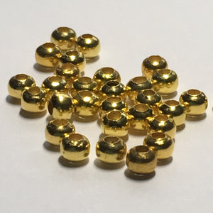 Gold Plated Smooth Round Spacer Beads,  2.5 x 3 mm - 30, 50 or 100 Beads