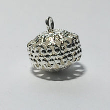 Load image into Gallery viewer, Bright Silver Filigree Barrel Dangle Bead/Charm, 12 x 10 mm
