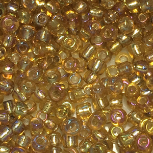 11/0 Transparent Silver Lined Light Topaz AB Seed Beads, 1.9 or 5 gm