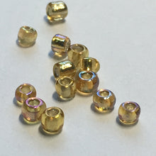 Load image into Gallery viewer, 11/0 Transparent Silver Lined Light Topaz AB Seed Beads, 1.9 or 5 gm