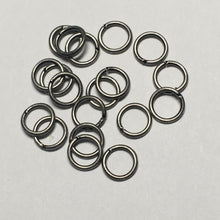 Load image into Gallery viewer, 4 mm 21-Gauge Silver Unsoldered Split 0.71 mm Plated Iron Jump Rings - 20 Rings