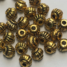 Load image into Gallery viewer, Antique Gold Lantern Beads 4 x 4.5 mm, 30 Beads