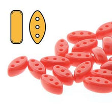 Load image into Gallery viewer, Czech Cali 3 x 8 mm 93190 Opaque Red Beads - 25 Beads