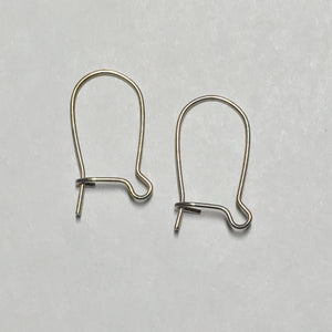 23-Gauge 16 mm Stainless Steel Hypoallergenic Kidney Ear Wires - 1 Pair