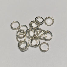 Load image into Gallery viewer, 5 mm 20-Gauge Silver Unsoldered 1.6 mm Split Jump Rings - 18 Rings