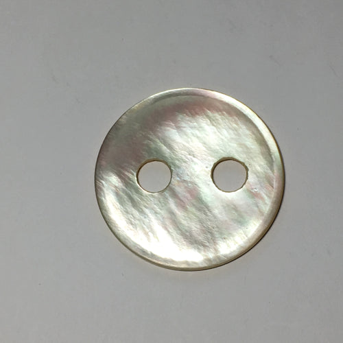 Vintage Ivory Mother of Pearl  Button, Pendants, Focal, Connectors 38 mm, 7 mm Holes