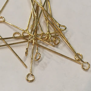 Gold Medium Eye Pins, 29 mm, 99 Pins