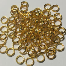 Load image into Gallery viewer, 5 mm 22-Gauge Gold Double Jump Rings - 20 Rings