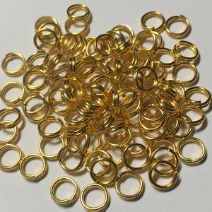 5 mm 22-Gauge Gold Double Jump Rings - 20 Rings