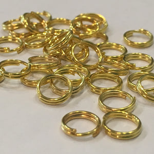 6 mm 22-Gauge Gold Double Jump Rings - 100 Rings