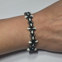 "Load image into Gallery viewer, Bead Kit to Make ""Oh, My Stars! Bracelet"" Black / White / Silver with Free E-Tutorial starting at $9.99"