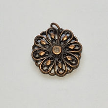 Load image into Gallery viewer, Antique Copper Flower Charm - 14 mm
