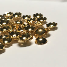 Load image into Gallery viewer, Gold Plated Solid Bead Caps, 6 mm  - 6 or 20 Caps