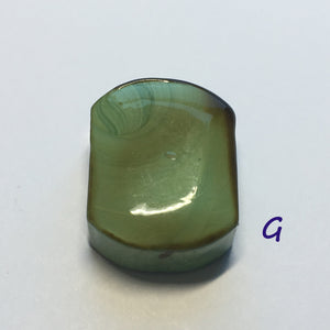Glass Focal Bead, Two-Strand, 19 x 24 x 10 mm, Bead G