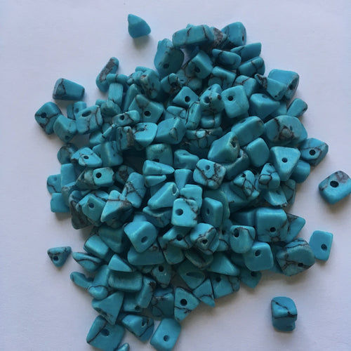 Turquoise Chips Semi-Precious Stone, 30 gm