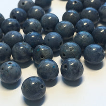 Load image into Gallery viewer, Dumortierite Blue Round Semi-Precious Stone  Beads 8 mm, 50 Beads
