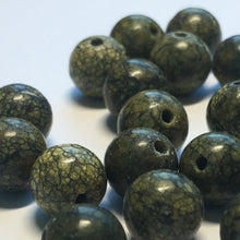Load image into Gallery viewer, Serpentine Semi-Precious Stone Round Beads, 8 mm - 19 Beads