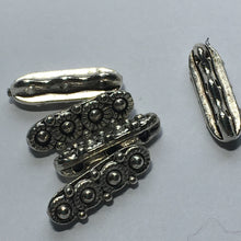 Load image into Gallery viewer, Antique Silver Three-Strand Spacer / Separator Bali Style Bar/Beads, 14 x 4 x 4 mm - 5 Bars/Beads