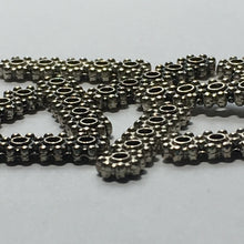 Load image into Gallery viewer, Antique Silver Five-Strand Spacer / Separator Bars/Beads, 15  x 3 mm - 9 Bars/Beads
