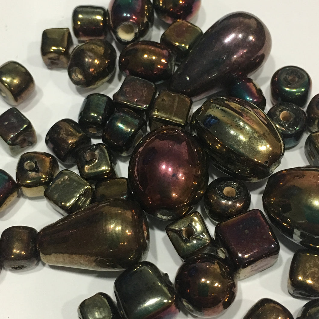Metallic Lampwork Beads MIXED LOT