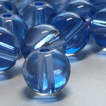 Load image into Gallery viewer, Transparent Blue Glass Round Beads, 8 mm - 32 Beads