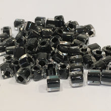 Load image into Gallery viewer, TOHO TC4-344  4 mm Cube / Square Bead Black Lined Crystal, 9 gm
