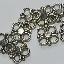 Load image into Gallery viewer, Antique Silver Flower Links, 10 x 10 mm - 10 Links