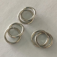 Load image into Gallery viewer, 14 mm 15-Gauge Stainless Steel Unsoldered 1.45 mm Split Jump Rings, 6 Rings