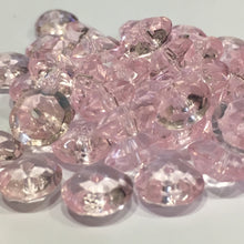 Load image into Gallery viewer, Transparent Light Pink Glass Faceted Saucer Beads, 9 x 4 mm, 50 Beads