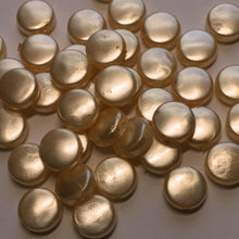 Load image into Gallery viewer, Peach Acrylic Pearl Coin Beads, 8.5 x 3.75 mm - 58 Beads, CRAFT GRADE ONLY