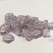 Load image into Gallery viewer, Transparent Lavender Flat Glass Bead MIX, 27 Beads