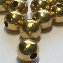 Load image into Gallery viewer, Gold Round Beads, 6.75 mm - 15 Beads