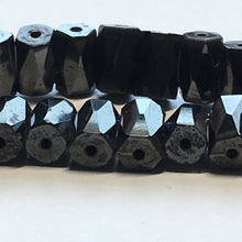 Load image into Gallery viewer, Hematite Magnetic Pentagonal Tube Beads, 8 x 5 mm, 22 Beads