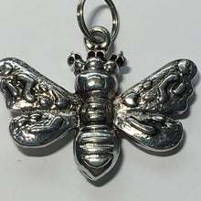 Load image into Gallery viewer, Antique Silver Queen Bee Charm / Pendant 30 x 35 mm