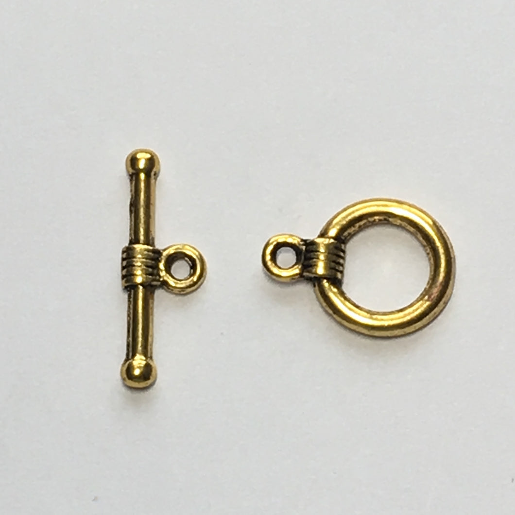 Gold Toggle Clasp, 20 mm