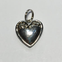 Load image into Gallery viewer, Silver XOXO Heart Charm with Red Rhinestone Flower, 20 x 20 x 4.5 mm