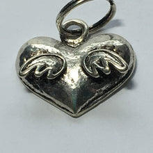 Load image into Gallery viewer, Antique Silver Heart with Wings Charm 18 x 15 mm