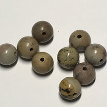 Load image into Gallery viewer, Brown Map Semi-Precious Stone Round Beads, 7 mm - 8 Beads